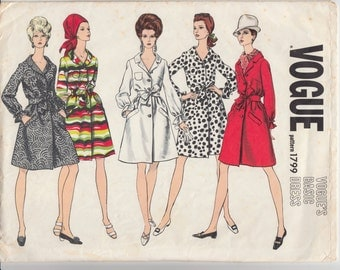 """Vintage Sewing Pattern Vogue 1799 Basic Dress Size 14 34"""" Bust - Free Pattern Grading E-book Included"""
