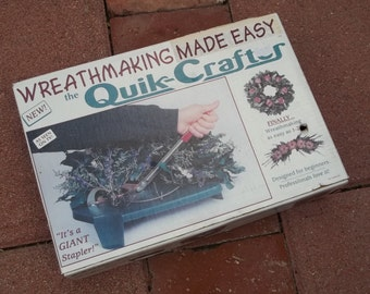 Sale! NIB Sealed Quik-Crafter Wreathmaking Giant Stapler Tool~Home Decor All Year! 50 Dollars Retail