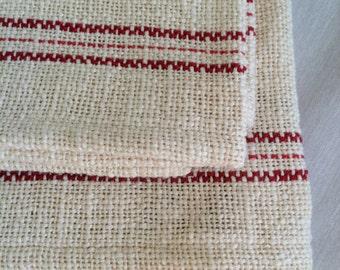 Natural Cotton Dish Towel Red Tea Towel