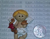 Valentines CUPID Boy polymer clay pendant! Ready to Ship!
