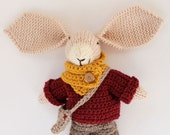 Edouard a handmade knitted bunny rabbit soft children's toy, knitted toys, knit toy, toy bunny, handmade toy, plush