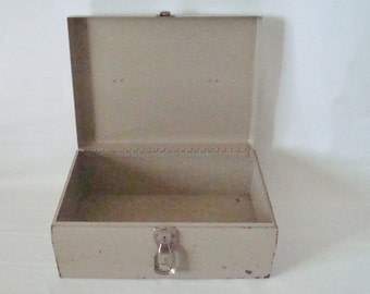 Vintage Brown  Metal Box