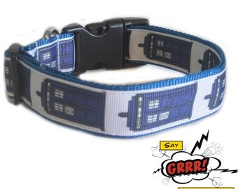Tardis Tidings Doctor Who-inspired dog collar