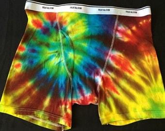 Tie Dye Boxer Briefs ADULT 2XL