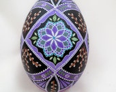 Large Goose Egg Pussywillows and Purple Pysanky