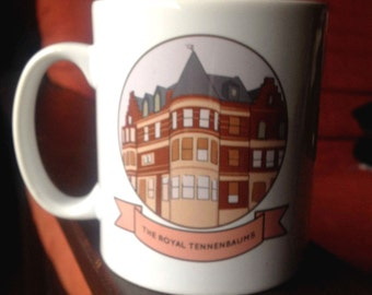 The Royal Tenenbaums illustration mug