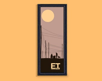 E.T. framed limited edition 4x12 inches print