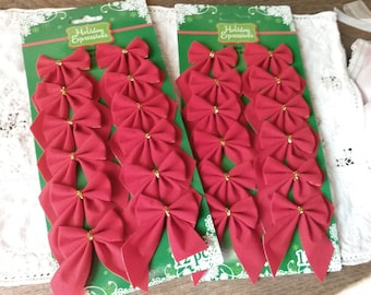Mini Christmas garland Gold star garland by KraftyChicDesigns