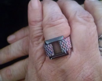 Belt Beaded Band Ring