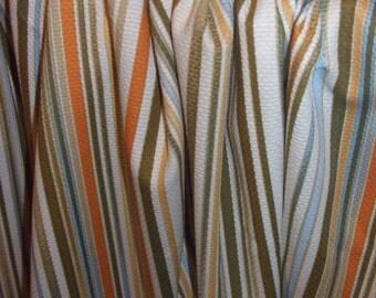 Fabric Striped cotton Earth colours
