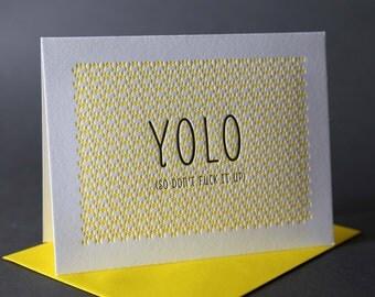 Neon Yellow YOLO