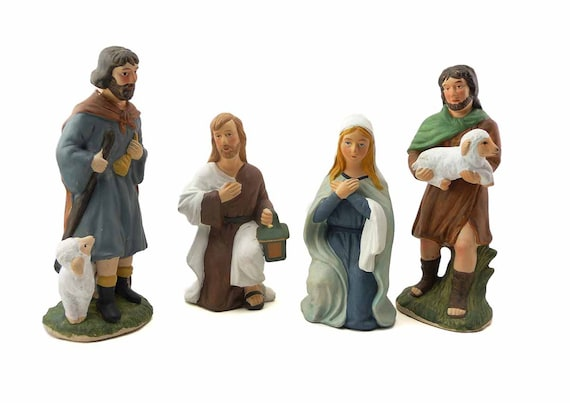 Items Similar To Sale Early Vintage Homco Nativity Set Of