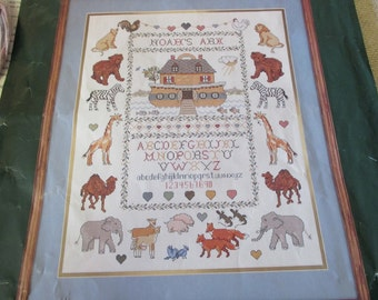 Elsa Williams Counted Cross Stitch Two by Two Noah's Ark Sampler 02079 Ready to Stitch