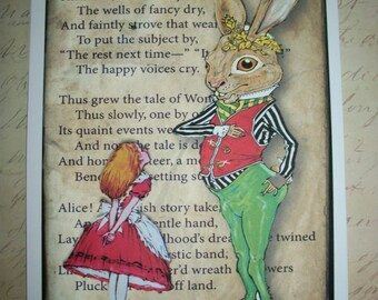 ALICE in WONDERLAND - WaLL ArT - Pay for 5 - Get a Bonus print - set of 6 - Click on All Photos - Whimsical, Delightful - PQ 84655