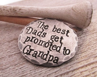 Personalized Ball Marker  - Grandpa gift  - Silver Golf Ball Marker - The Best Dads