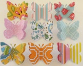 Beaulieu-Sur-Mer - paper butterfly decorative push pins - made to order