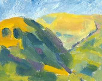 landscape oil painting expressive small 6x8 canvas Close Shadow