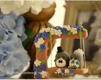penguin Wedding Cake Topper (K446)