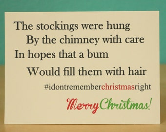 Christmas card - Holiday card - funny - hilarious - gift - present