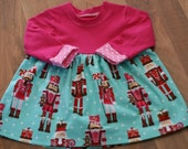 Nutcracker - Zinnia - Knit Bodice - Christmas Dress - 18 - 24 - 2T - Ready to ship