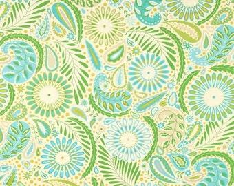 Sanjay Blue Kumari Garden fabric | Cotton Quilting fabric