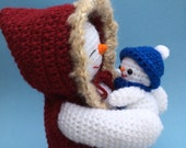 PDF Crochet Pattern for Mommy and Baby Snowman