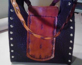 Handmade Genuine Bison Leather Bag