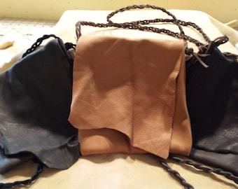 Purse Handbag Made from Genuine Deerskin Leather