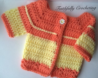 Baby sweater.. Short sleeve sweater.. 0-3 months.. Ready to ship