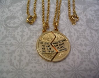 Religious Mizpah Necklaces for Mother Daughter Sisters or Friends
