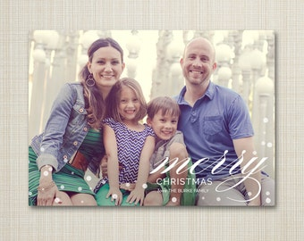 Christmas card, photo christmas card, digital Christmas card, Photo holiday card, digital holiday card, modern christmas - christmas merry.