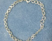 Argentium Silver Handmade Twisted Link Bracelet