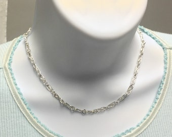 Handmade Unique Fancy Link Neckchain 16 Inches in Length