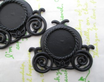 Carriage setting frame 2pcs Black 63mm x 50mm  (Fits round 25mm Cameo) NEW item