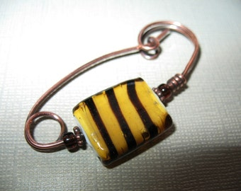 Urban Tiger Scarf Pin or Hat Pin or Shawl Pin, Accessory for Your Knits and Weaves