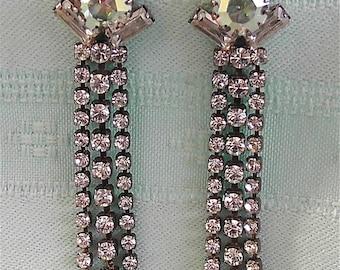 ON SALE was 29.99 Vintage Crystal Earrings