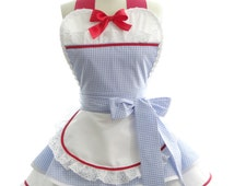 Retro Apron - Dorothy of Oz Womans Aprons - Vintage Apron Style - Pin up Wizard of Oz Rockabilly Cosplay