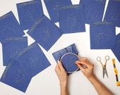 Aries Zodiac Embroidery Kit - diy constellation embroidery kit