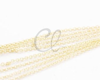 3 Feet Premium Matte Gold Plated Brass Base Chains - Oval 1.55x1.2mm (225S06)