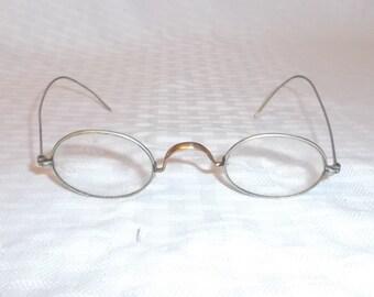 Antique Victorian Steam Punk Oval Wire Frame Eyeglasses Unisex