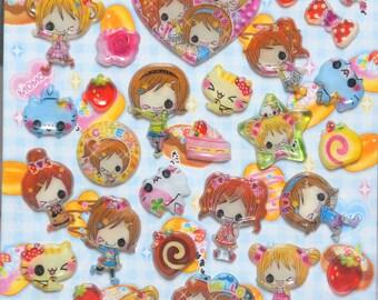 Girly Deco sticker anime girls  ST1