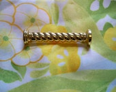 Vintage Monet Spiral Bar Gold Tone Brooch