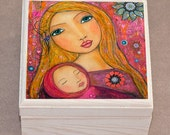 Jewelry Box, Mother and Baby Wooden Trinket Box