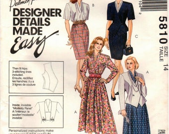 McCall's UNCUT Palmer & Pletsch Pattern 5810 - Misses Lined Jacket and Dresses - Size 14