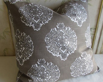 MADRAS BISQUE decorative designer pillow cover 18x18 20x20 22x22 24x24 26x26