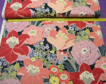 Alexander Henry • Rita Floral • Mara  Navy • Cotton Fabric 0.54yd (0,5m) 001900