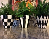 Painted Pots // Painted Planter // Whimsical Painted Planters // Terra Cotta pots