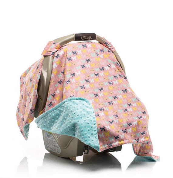 Pink And Gold Car Seat Canopy