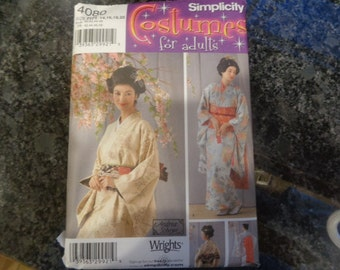 Simplicity 4080 misses' kimono costume pattern- 2006