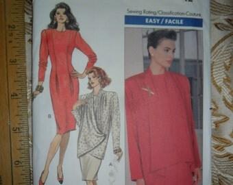 Vintage 1989 Butterick Pattern 4403 for Misses Jacket & Dress - Uncut pattern in size 12
